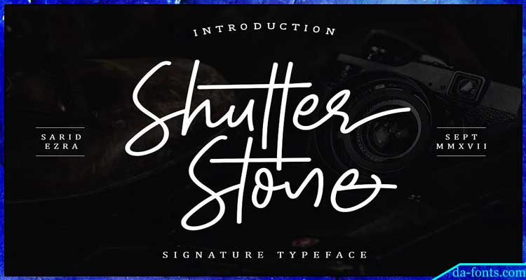Shutter Stone Font Free Download