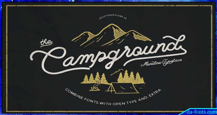 Campground Script Font Free Download