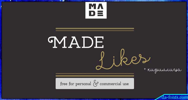 Made Likes Font Free Download