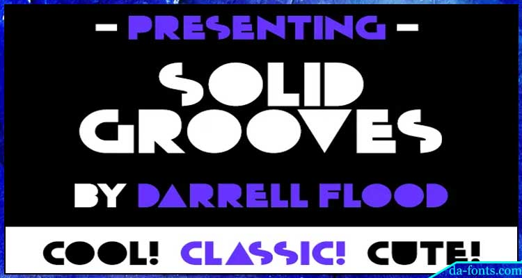 Solid Grooves Font Free Download