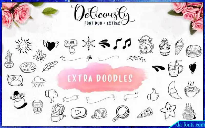 Deliciously Brush Font Free Download