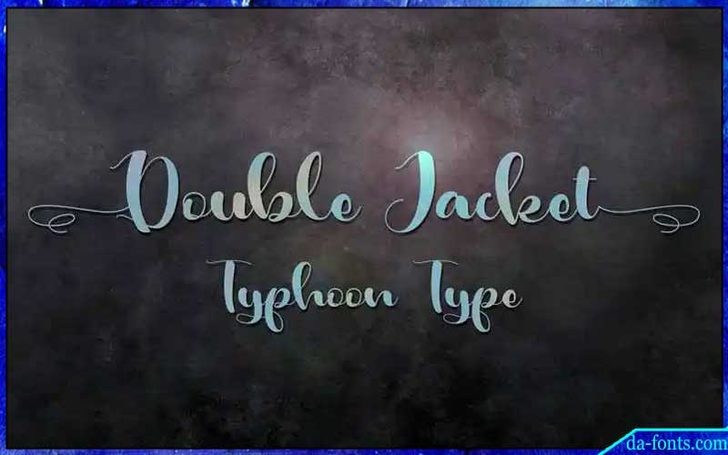 Double Jacket Font Free Download