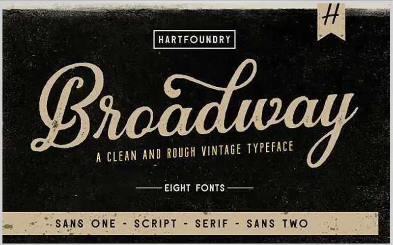 Broadway Font Family Free Download