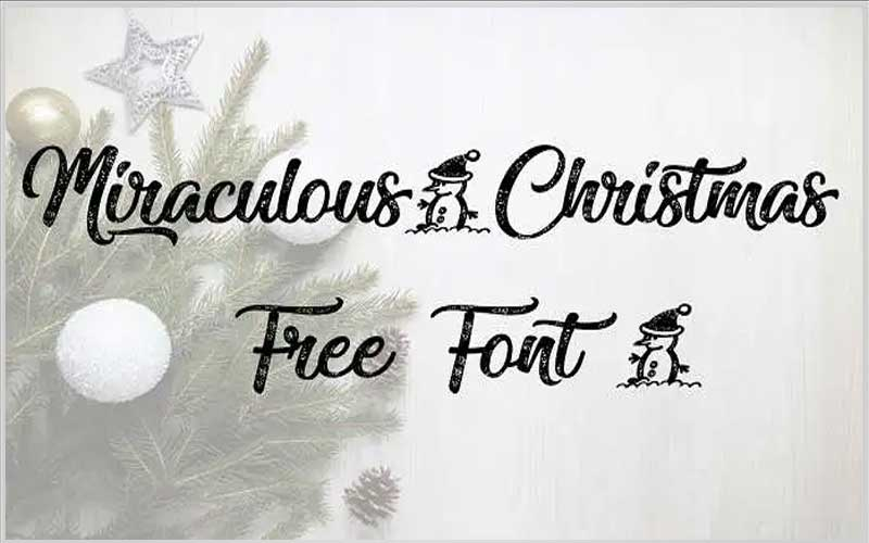Miraculous Christmas Font Free Download
